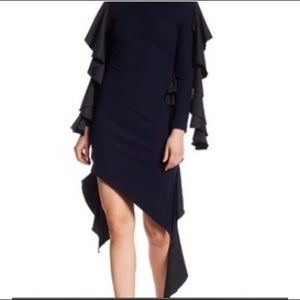 TOV Asymmetrical Sweater Dress
